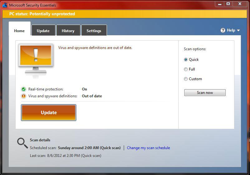Microsoft Security Essentials: Code Orange